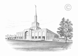 Toronto Ontario Temple - Sketch