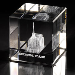 Rexburg Temple Cube