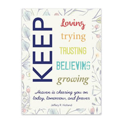 Keep Trying - Printable lds visiting teaching method, lds visiting teaching handout, lds relief society message handout