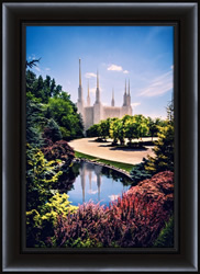 Washington D.C. Temple Day Reflection - Framed - D-LWA-SJ-WDTDR-7K06777