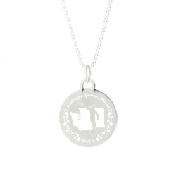 Washington Mission Necklace - Silver/Gold washington lds mission jewelry