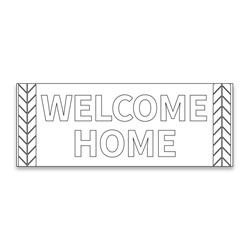 Coloring Missionary Banner - Wheat lds missionary banner, missionary poster, homecoming poster, welcome home poster for missionaries, lds welcome home banner, welcome home banner