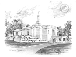 Winter Quarters Nebraska Temple - Sketch