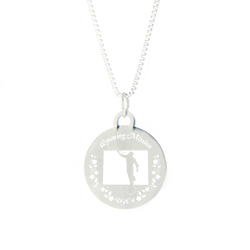 Wyoming Mission Necklace - Silver/Gold wyoming lds mission jewelry