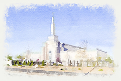 Albuquerque Temple - Watercolor Print