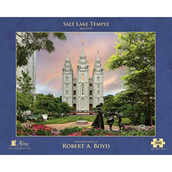 Salt Lake Temple Rainbow Puzzle