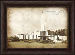 Atlanta Temple - Vintage Framed