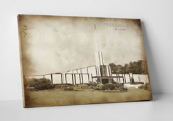 Vintage Atlanta Temple - Canvas Wrap