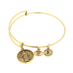 Press Forward Bangle Bracelet - Gold lds bangles, mormon bangle bracelets, youth theme bracelets
