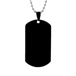 Customizable Dog Tag Necklace - Black customizable dog tags, customizable jewelry, personalized jewelry