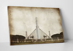 Vintage Boise Temple - Canvas Wrap