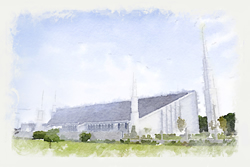 Boise Temple - Watercolor Print