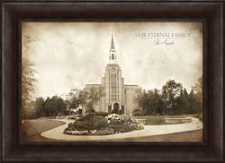 Boston Temple - Vintage Framed