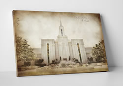 Vintage Bountiful Temple - Canvas Wrap