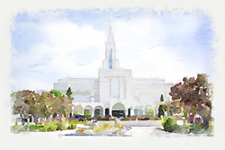 Bountiful Temple - Watercolor Print