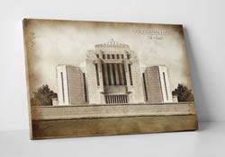 Cardston Temple - Vintage Canvas Wrap