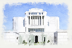 Cardston Temple - Watercolor Print