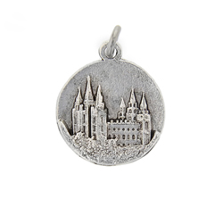 Salt Lake Temple Medallion Charm salt lake temple, lds temple jewelry, lds salt lake temple jewelry