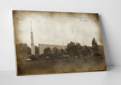 Chicago Temple - Vintage Canvas Wrap