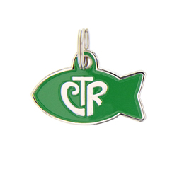 Personalized CTR Pet ID Tag - Fish lds cat tag, lds ctr cat tag, mormon cat tag, cat tag, cat id tag, lds cat tag