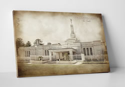 Columbia SC Temple - Vintage Canvas Wrap