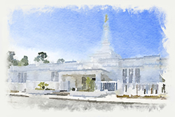 Columbia SC Temple - Watercolor Print