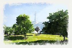 Columbus Temple - Watercolor Print - D-LWA-WC-COLU