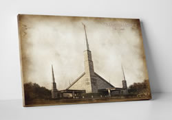 Dallas Temple - Vintage Canvas Wrap
