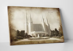 Washington D.C. Temple - Vintage Canvas Wrap
