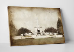 Denver Temple - Vintage Canvas Wrap