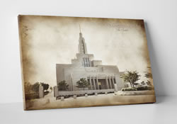 Draper Temple - Vintage Canvas Wrap