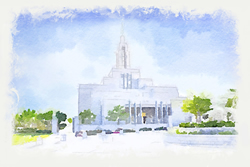 Draper Temple - Watercolor Print - D-LWA-WC-DRPR
