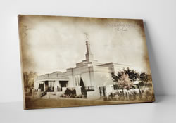 Edmonton Temple - Vintage Canvas Wrap