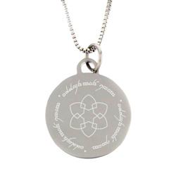 Elvish Choose the Right Flower Pendant - Silver - LDP-CPN05159
