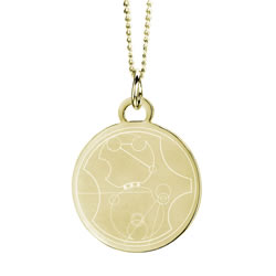 Gallifreyan Choose the Right Pendant - Gold