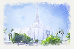 Gilbert Temple - Watercolor Print