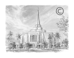 Gilbert Arizona Temple - Sketch