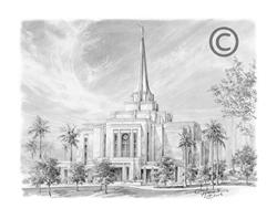 Gilbert Arizona Temple - Sketch