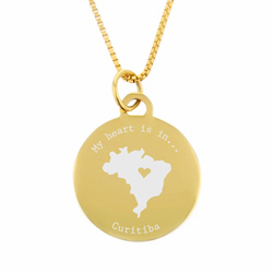 My Heart Is In Country Necklace - Gold