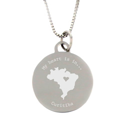 My Heart Is In Country Necklace - Silver - LDP-CPN05156
