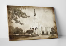 Houston Temple - Vintage Canvas Wrap