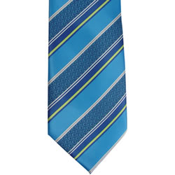 Mens CTR Blue Stripe Tie