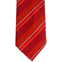 Boys Adjustable Red Stripe CTR Tie