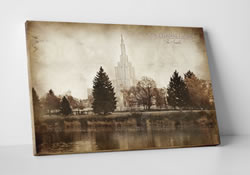Idaho Falls Temple - Vintage Canvas Wrap