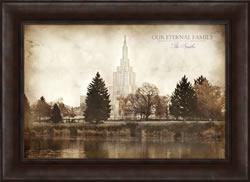 Idaho Falls Temple - Vintage Framed