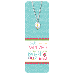 Just Baptized Necklace and Bookmark baptism,baptism necklace,baptism gifts,lds baptism