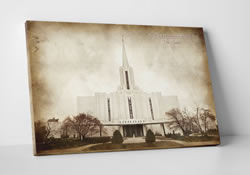 Jordan River Temple - Vintage Canvas Wrap