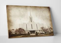 Jordan River Temple - Vintage Canvas Wrap - D-LWA-CWT-JORD