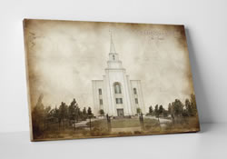 Kansas City Temple - Vintage Canvas Wrap