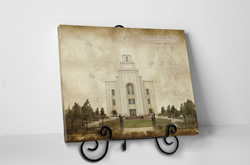 Kansas City Temple - Vintage Tabletop - D-LWA-TCW-KCMO
